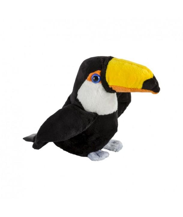 Pluș pasăre tucan, 15 cm