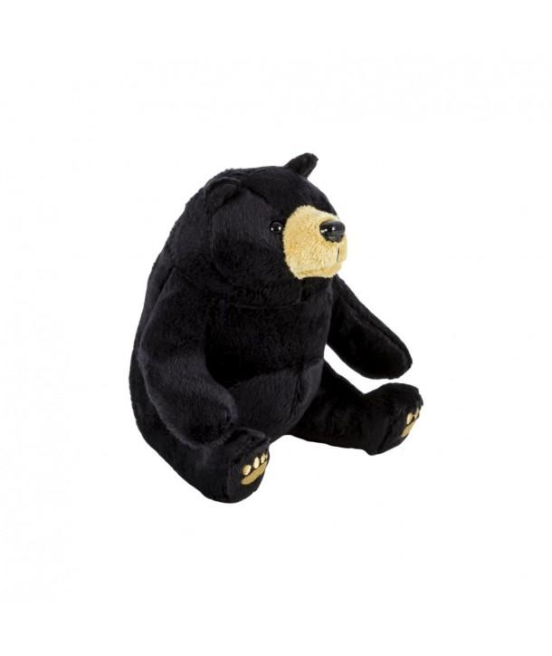 Pluș urs negru, 15 cm
