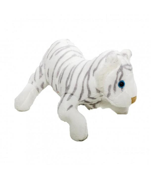 Pluș tigru alb, 14 cm