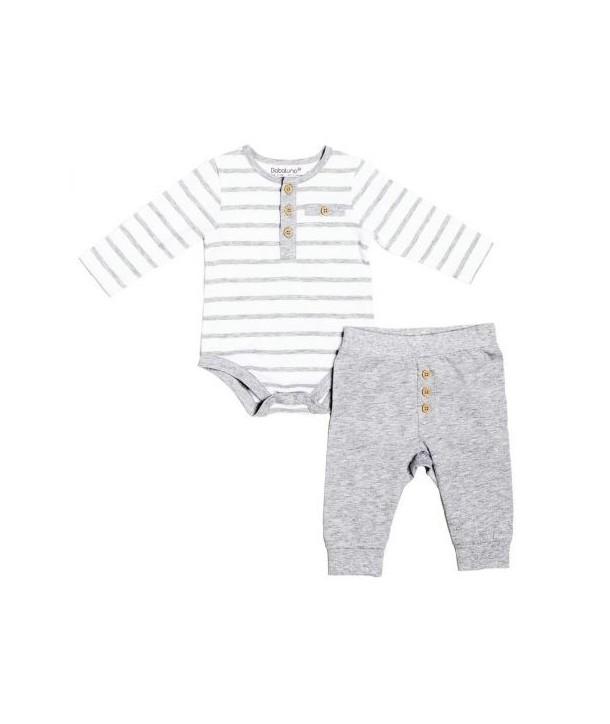 Body cu pantalonasi Babaluno culoare gri/alb