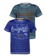 "Tricou albastru in dungi Minoti baieti ""Originals"""