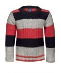 Pulover Minoti tricotat gri/roz/negru bebelusi