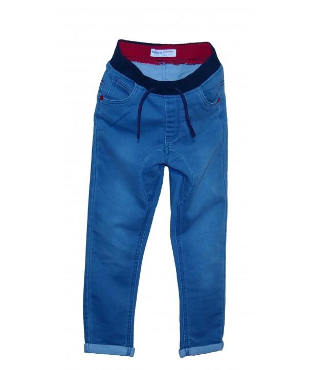 Pantaloni Minoti stil jeans pentru baieti culoare bleu