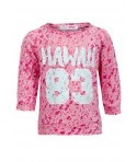 Bluza fete Minoti design burn-out roz