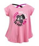 Bluza roz cu barete pentru fete