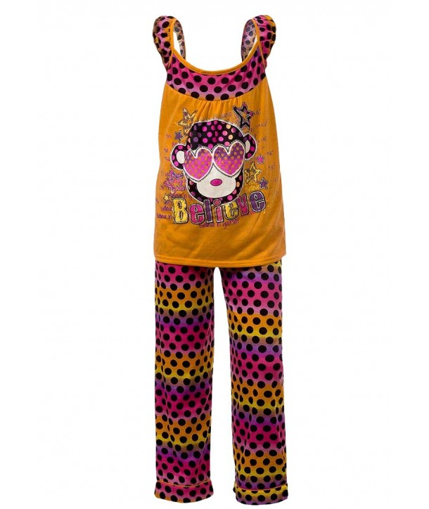 Set pijama portocaliu Sweet n Sassy fete