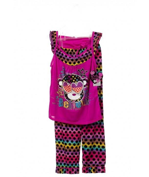 Set pijama magenta Sweet n Sassy fete