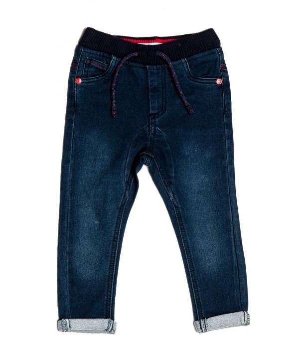Pantaloni Minoti stil jeans pentru baieti culoare bleumarin