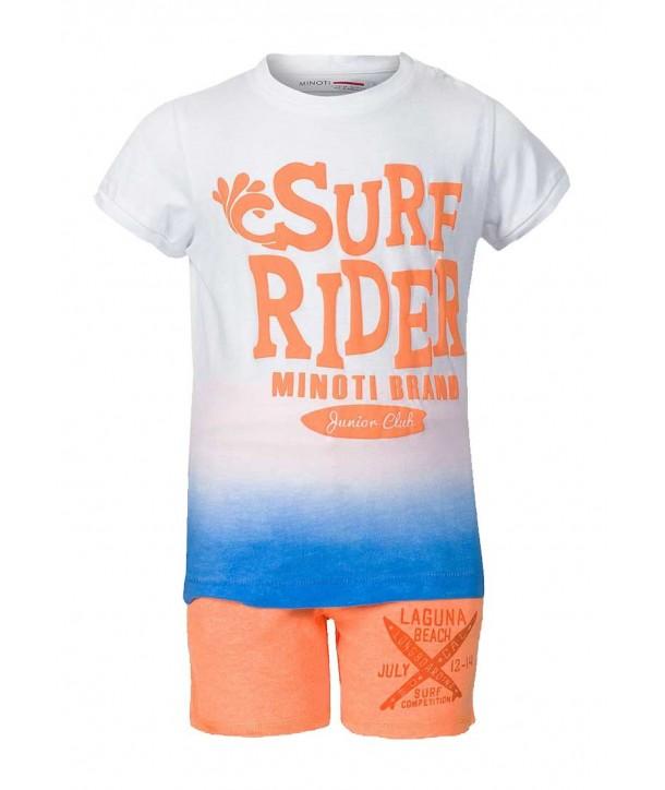 "Set doua piese portocaliu Minoti pentru bebelusi ""Surf Rider"""