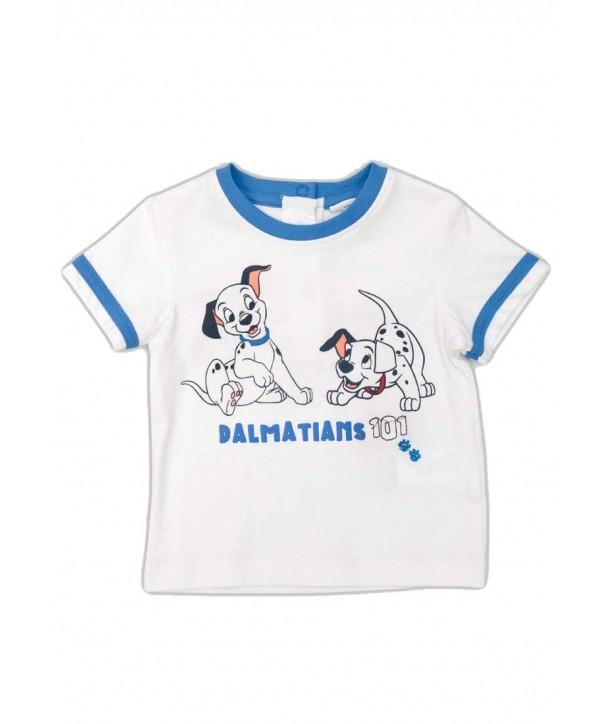 """Tricou alb/bleu Disney pentru bebelusi """"101 Dalmatieni"""""""