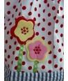 Rochita cu buline si flori aplicate