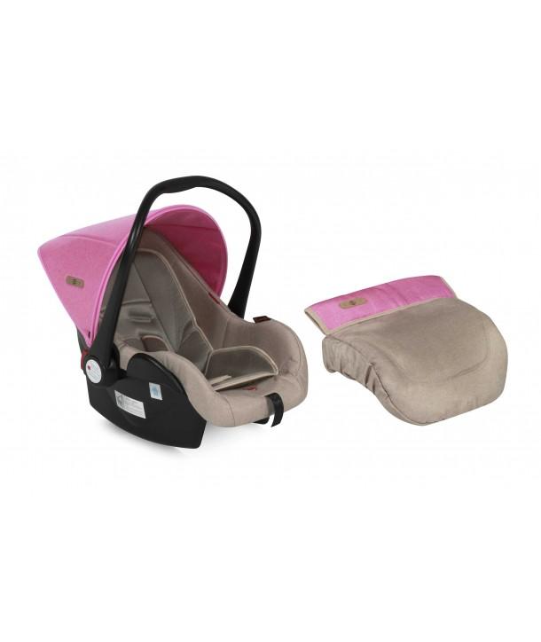 Cos Auto 0-13 Kg LIFESAVER Beige & Rose - Lorelli Premium