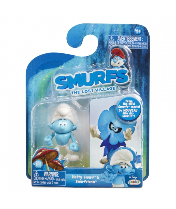 Set 2 Strumfi- Hefty Smurf si Smurfstorm