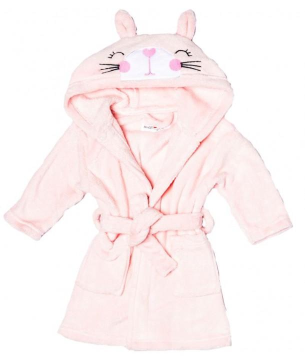 Halat de baie roz pentru fetite