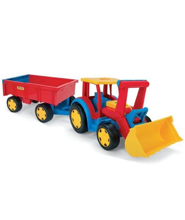 Tractor gigant cu remorca si incarcator 110cm - Wader