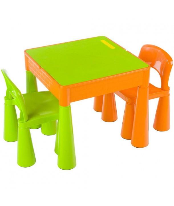 Masuta Guliver cu 2 scaune - Tega Baby - Orange