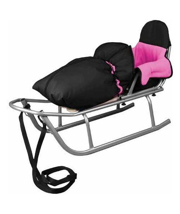Sanie Rider cu Sac de iarna Speedy Roz - Baby Dreams