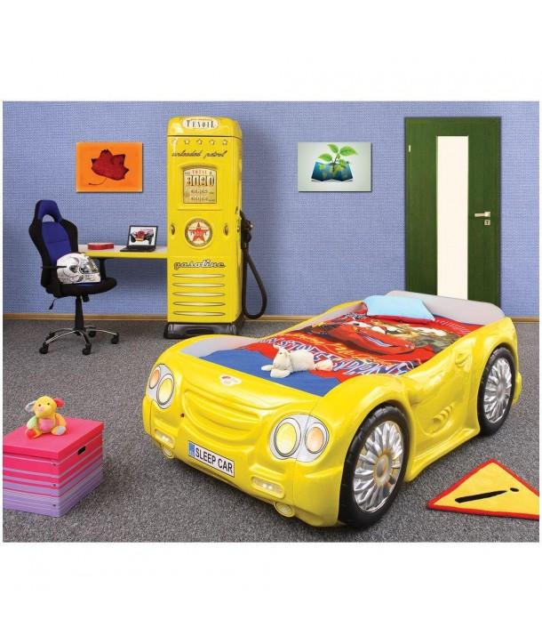Pat si dulap camera copii - Plastiko - Galben