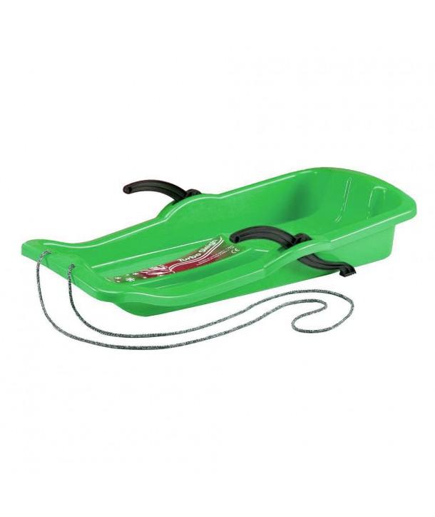 Sanie plastic cu frane - Marmat - Verde
