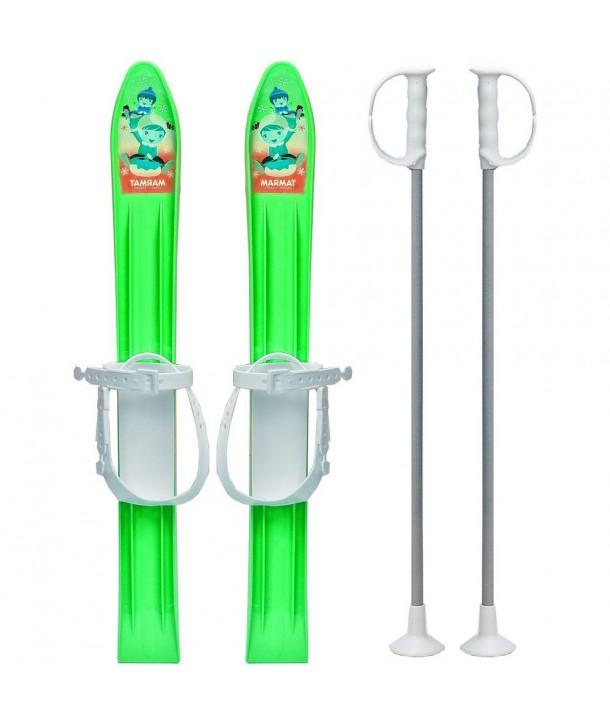 Skiuri copii 60 cm - Marmat - Verde