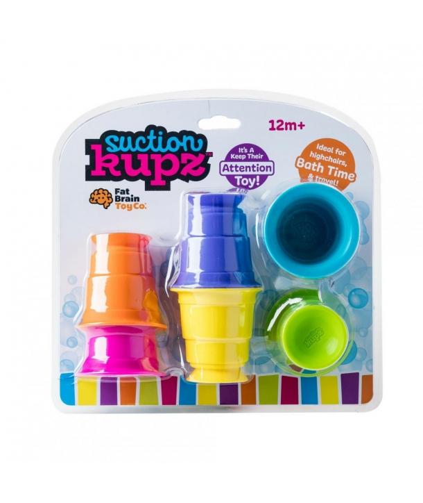 Fat Brain Set 6 cupe de silicon colorate