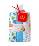 Scutece textile pentru bebelusi 3 buc - Bobobaby - Albastru