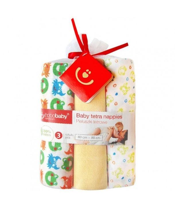 Scutece textile pentru bebelusi 3 buc - Bobobaby - Galben