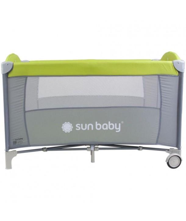 Patut Pliabil cu un nivel Sweet Dreams - Sun Baby - Verde