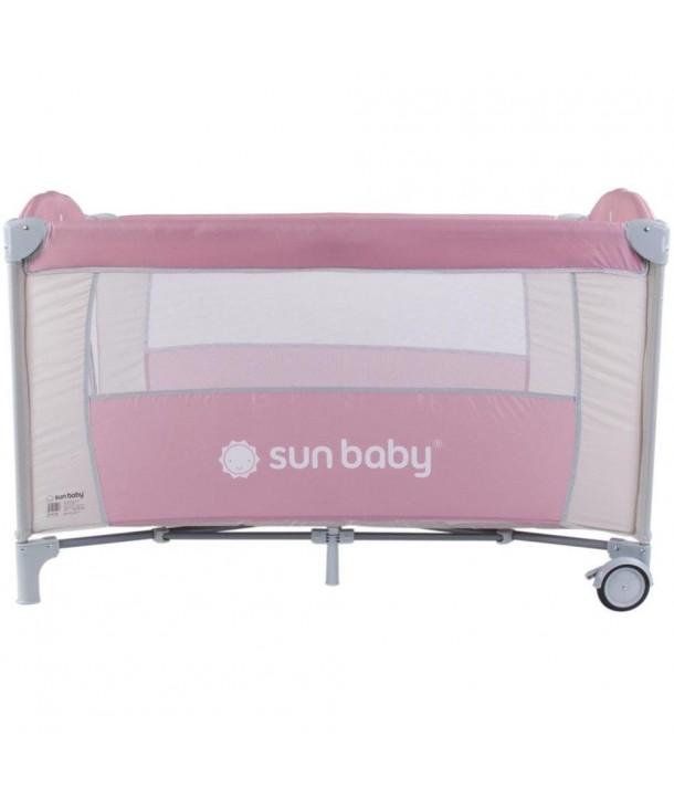 Patut Pliabil cu un nivel Sweet Dreams - Sun Baby - Roz