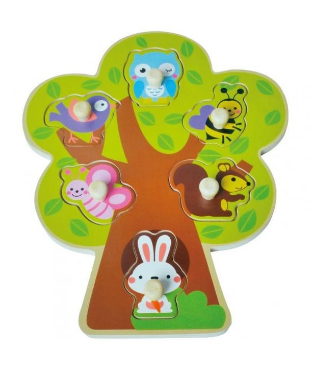 Puzzle din lemn Copac - Sun Baby