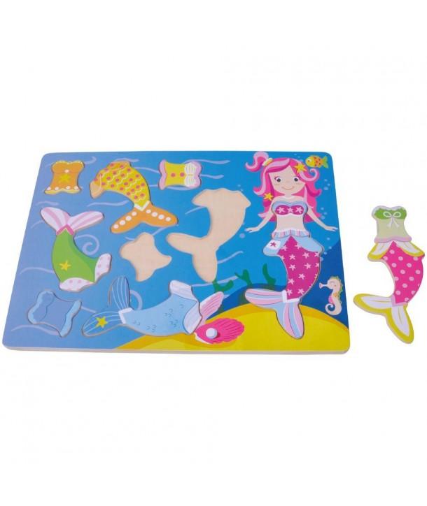 Puzzle din lemn Sirena - Sun Baby