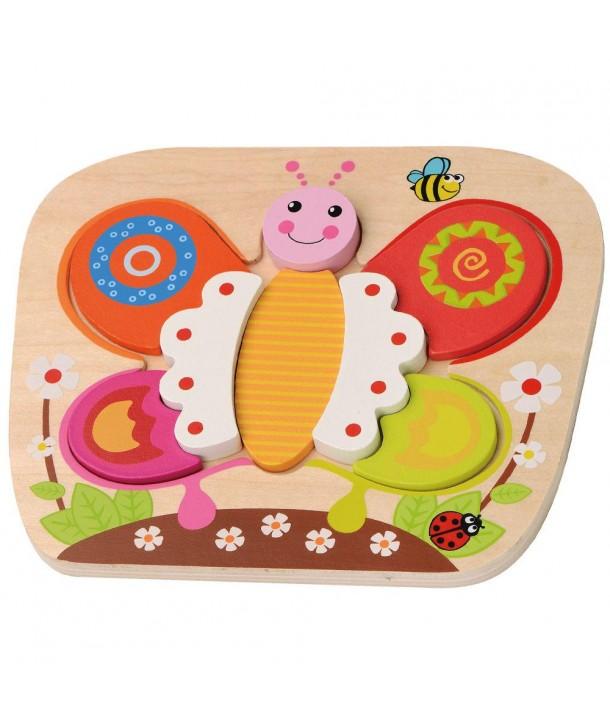 Puzzle din lemn Fluture - Sun Baby