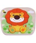 Puzzle din lemn Leu - Sun Baby