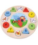 Puzzle din lemn Ceas - Sun Baby