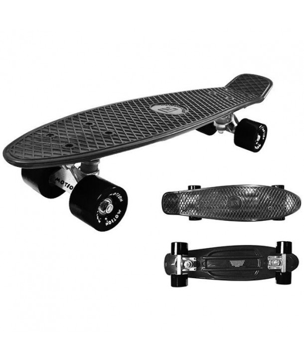 Skateboard All Age - Kidz Motion - Negru
