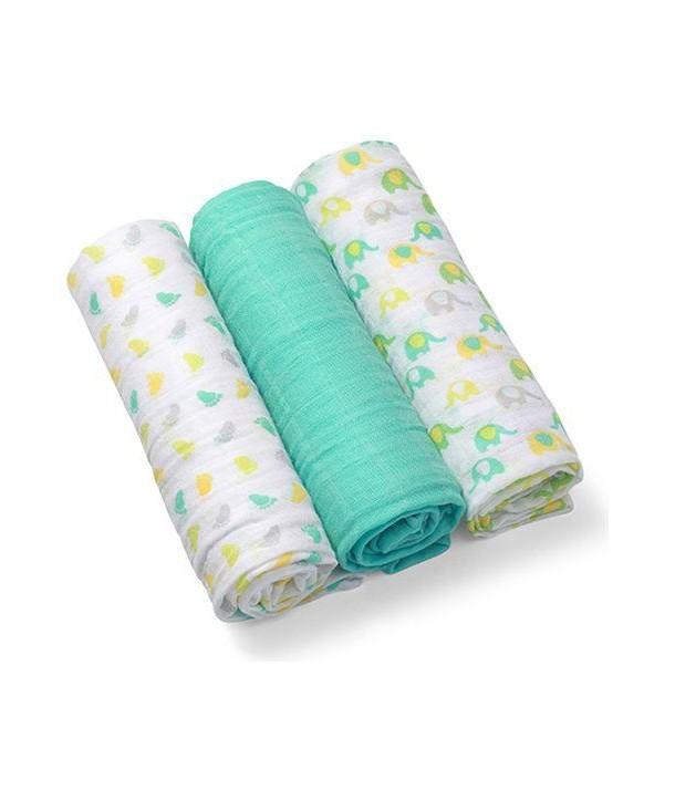 Scutece textile pentru bebelusi 3 buc - BabyOno - Turcoaz
