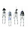 Figurină schelet, din plastic, cu agătăt