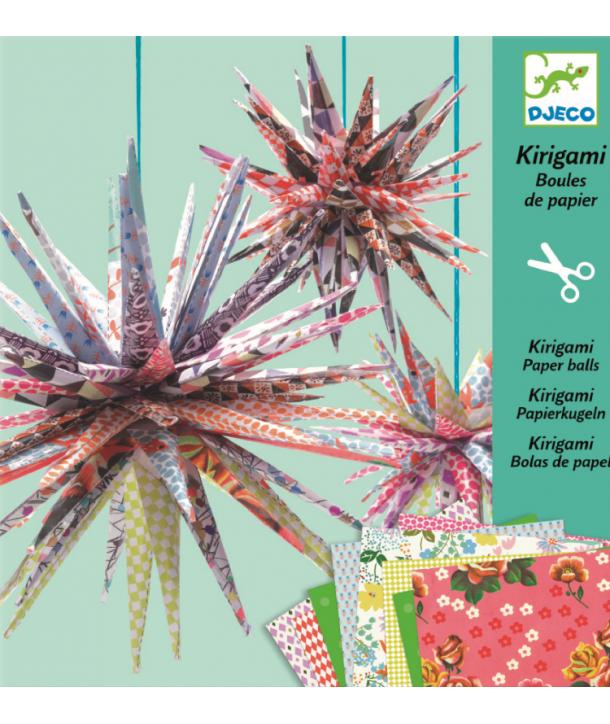 Kirigami decoraţie mingi țepoase Djeco