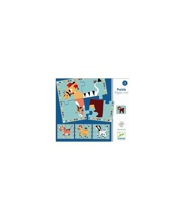 Puzzle cu Rigolon Co Djeco