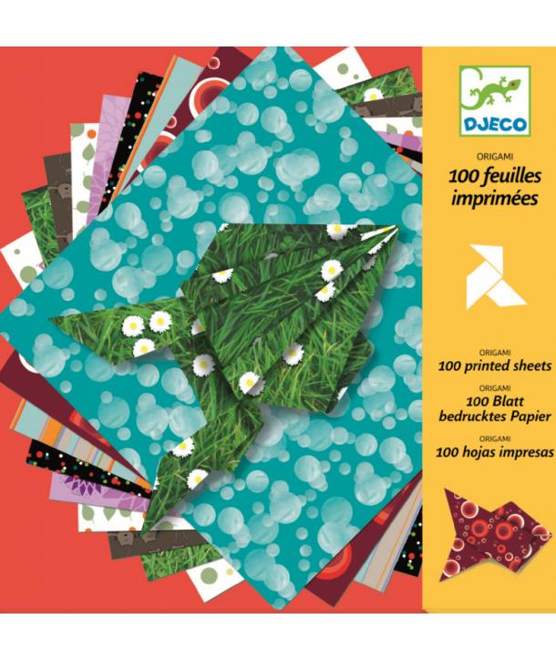 Hârtie origami 100 coli Djeco