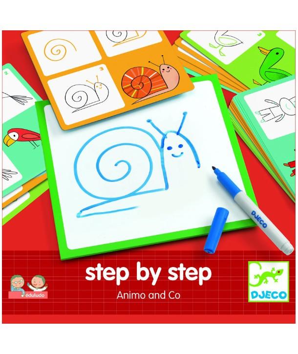 Desenează pas cu pas, animale & Co Djeco