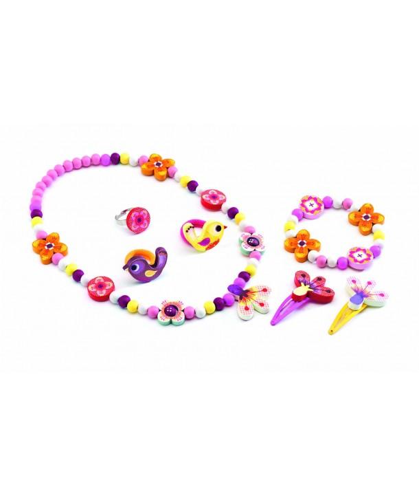 Set bijuterii flori Djeco