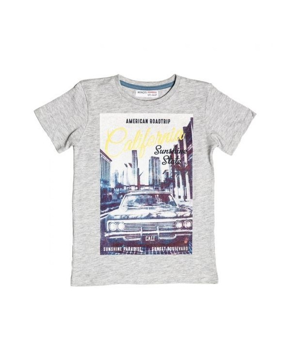 Tricou gri cu imagine imprimata pentru baieti