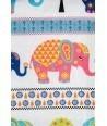 Lenjerie pat imprimeu Elefanti (5pcs)